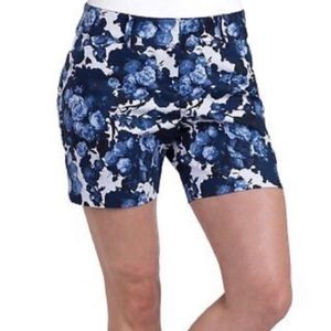 The Limited Blue Floral Print Casual Shorts Sz 10